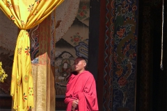 MONK CURTAIN PULLED BACK